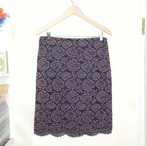 🍂Ann Taylor Factory   Lace Pencil Skirt